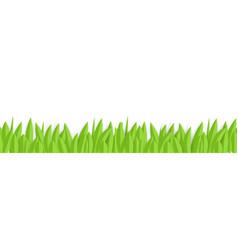 green paper grass horizontal seamless border vector image