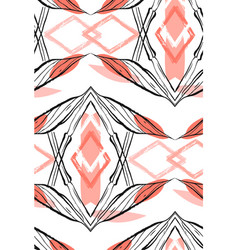 Hand made abstract graphic seamless pattern with vector