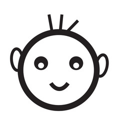 happy kid icon vector image