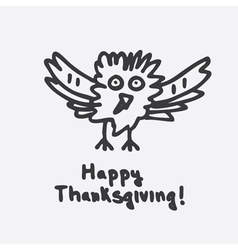Happy thanksgiving with cartoon turkey vector