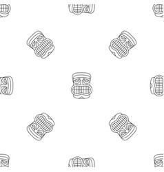 hawaii idol face pattern seamless vector image