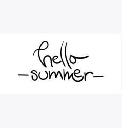 hello summer with unique hand drawn vector image