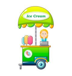 ice cream street shop icon cartoon style vector image