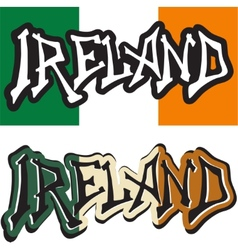 Ireland word graffiti different style vector image
