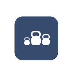 Kettlebells icon on white background vector