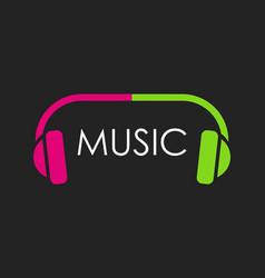 logo for musical web site or club in dark color vector image