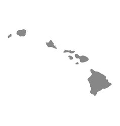 Map us state hawaii vector