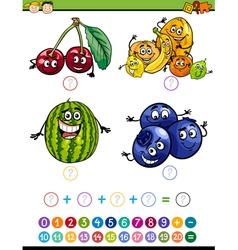 math task cartoon vector image