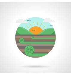 Meadow detailed flat color icon vector