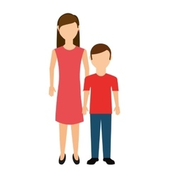 Mother with son isolated icon vector