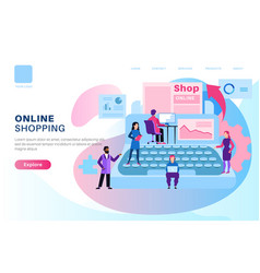 Online shop page store media modern design vector