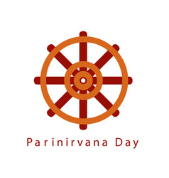 Parinirvana or nirvana day vector