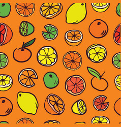 pattern background with citrus vector image