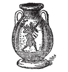 Pelike is a beautiful wine jar vintage engraving vector