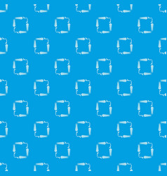 Pigweed wheat pattern seamless blue vector