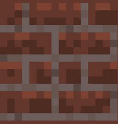 Pixel minecraft style bricks block background vector