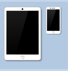 Realistic 3d tablet with blank screen isolated vector