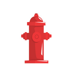 Red fire hydrant vector