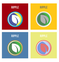 Ripple xrp outline icon cryptocurrency e-currency vector