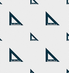 Ruler icon sign Seamless pattern with geometric vector