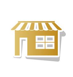 Store sign golden gradient vector