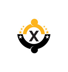 success life coaching initial x vector image