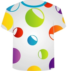 T Shirt Template- Colorful circles vector image