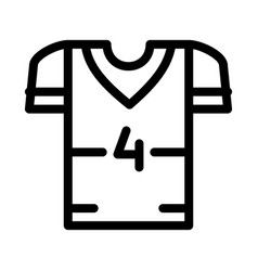T-shirt with number 4 icon outline vector