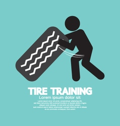 Tire Training Workout Symbol vector image