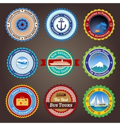 Travel labels badges and stickers vector image