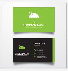 Umbrella icon business card template vector