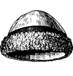 Vintage cap vector image
