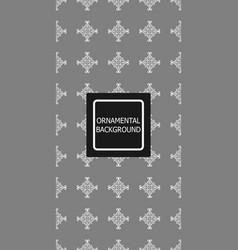 vintage ornamental background vector image