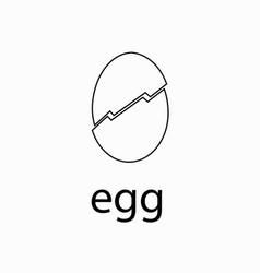 white chicken egg vector image