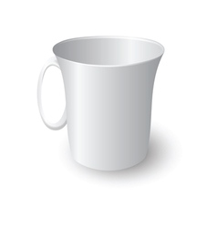 white coffee mug vector image