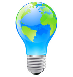 world globe light bulb concept vector image