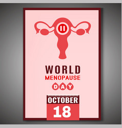 world menopause day vector image