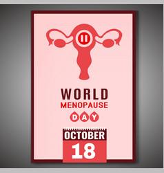 World menopause day vector