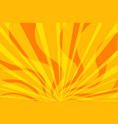 yellow fire pop art background vector image