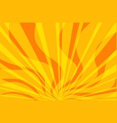 Yellow fire pop art background vector