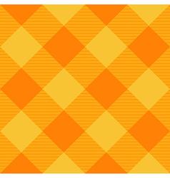 Yellow Orange Diamond Chessboard Background vector image