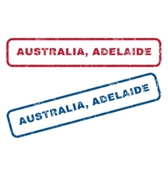 Australia Adelaide Rubber Stamps vector image