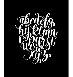 black and white hand lettering alphabet design vector image