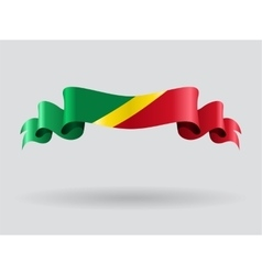 Congolese wavy flag vector image