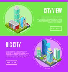 futuristic architecture cityscape banners set vector image vector image