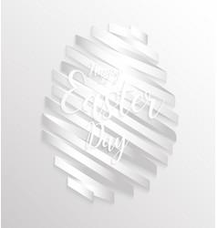happy easter day design egg ribbon banner vector image