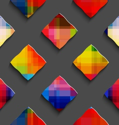 Rainbow colored rectangles on gray seamless vector image vector image