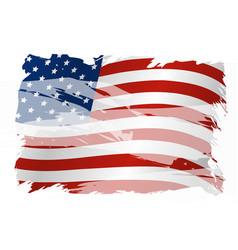 usa background design of american flag vector image