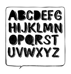 hand drawn font with shadow vector image vector image