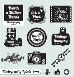 Photography Labels vector image vector image